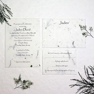handmade paper wedding invitations recycled custom seed paper made