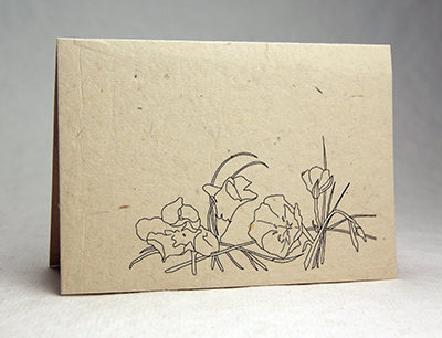 Lotka Seeded Thank You Card - Prim Rose and Monkey Flower Design