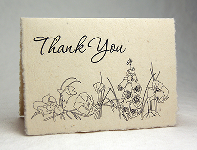 Seeded Lotka Thank You Card Wildflower