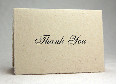 Seeded Lotka Thank You Card Script