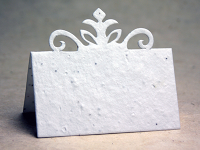 Crown Seed Paper Place Card