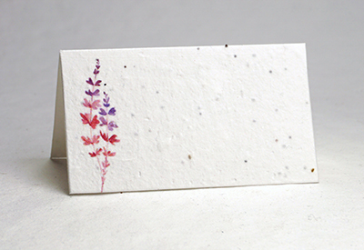 Ruby Red print seed paper place card