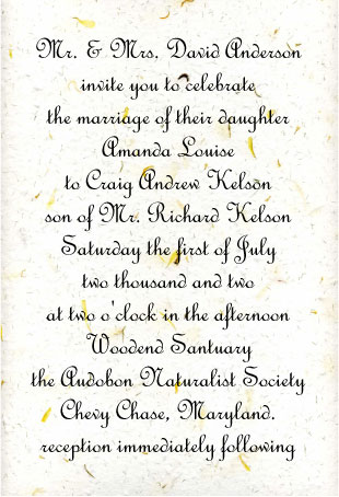 Wedding Invitation Font