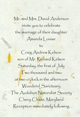invitation font - Papyrus Wedding Invitations