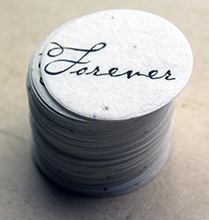 forever seed paper tag