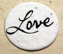 love seed paper tag