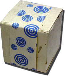 Lotka Seeded Favor Box - Blue Bullseye