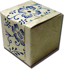 Lotka Seeded Favor Box - Blue Garden