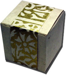 Lotka Seeded Favor Box - Golden Woodcut