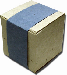 Lotka Seeded Favor Box - Periwinkle