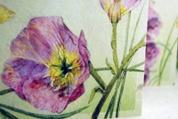 watercolor card detail