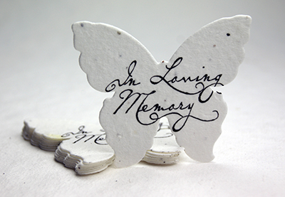 in loveing memory butterfly seed paper