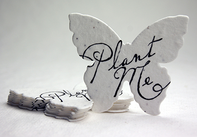 plant me butterfly seed paper