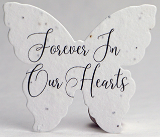 forever in our hearts butterfly seed paper