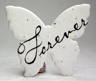 in loving memory clouds butterfly seed paper