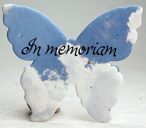 in memoriam clouds butterfly seed paper