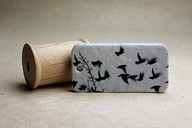 birds seed paper tag