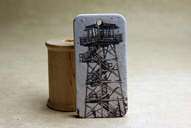 fire tower seed paper tag