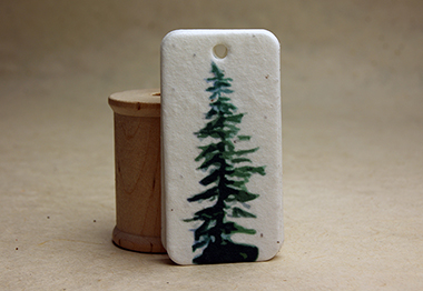 tree seed paper tag