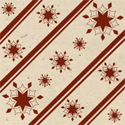 red snowflake handmade lotka wrapping paper