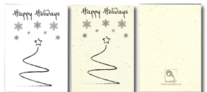 Recycled and Seeded Generic Holiday Cards