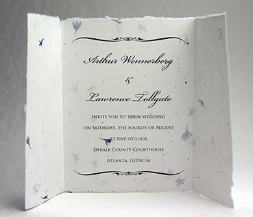 seed paper wedding invitations 6x9 bifold invitation