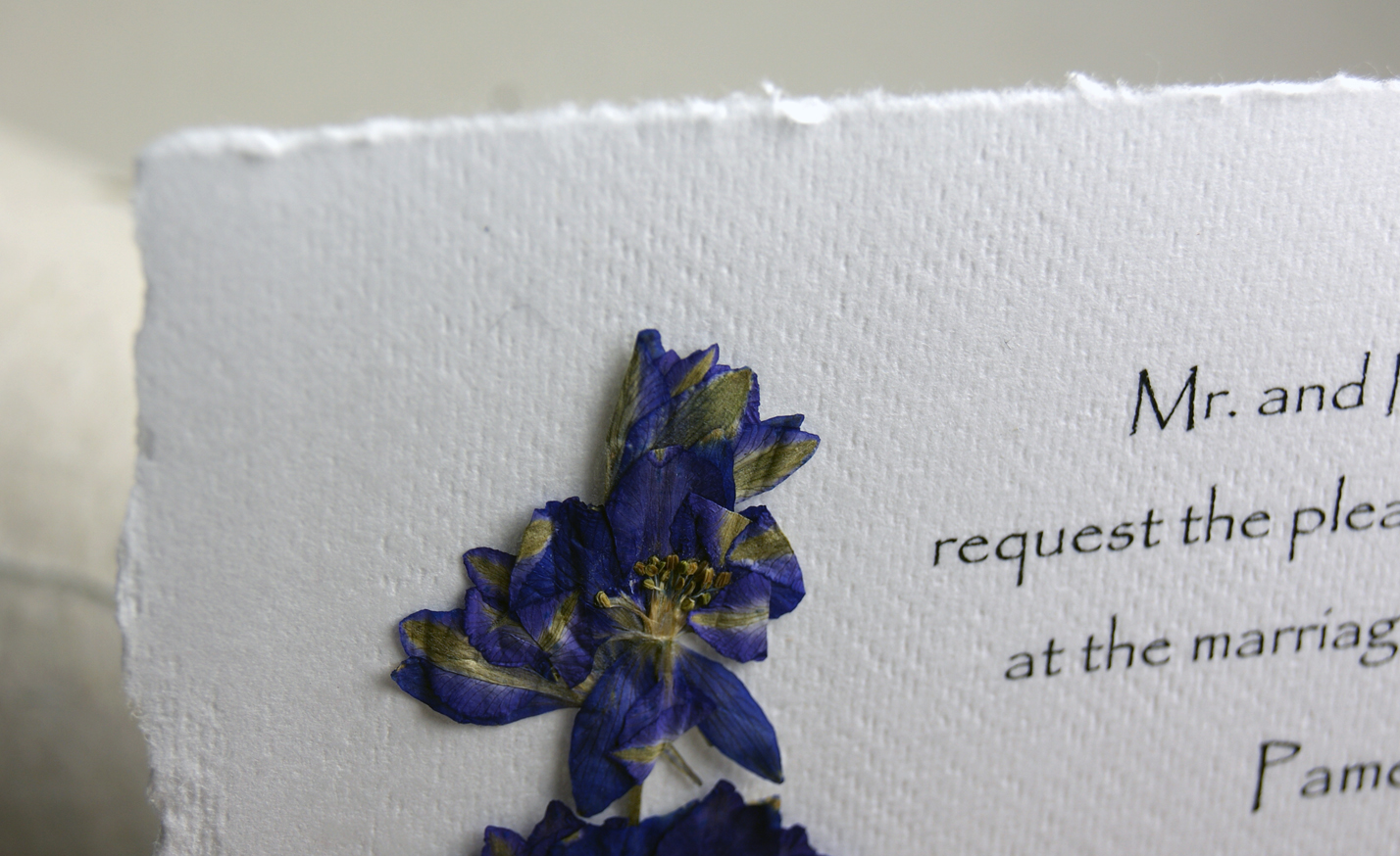 Pressed Flower Invitation Square