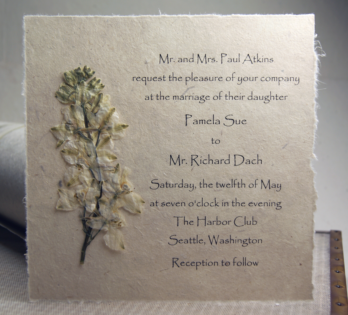 Lotka Pressed Flower Invitations