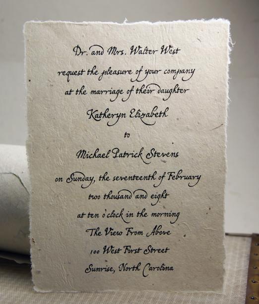 5x7 lotka paper invitations
