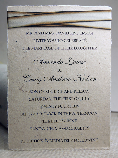 seed paper wedding invitations 5x7 lotka panel invitation with