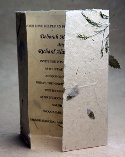 24s Seed Paper Wedding Invitations 6x9 Bifold Invitation
