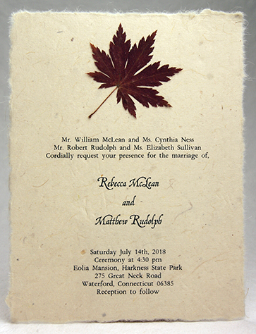 4.5x6 Wildflower invitation with maple