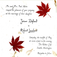 6x6 Square invitations