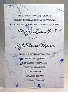 Printed Paper Panel Invitation