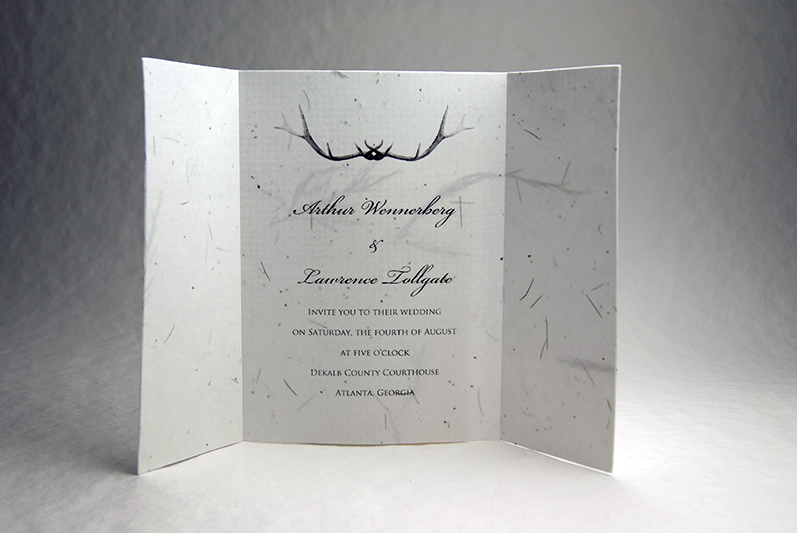 5x7 folding seed paper wedding invitations wildflower seeded