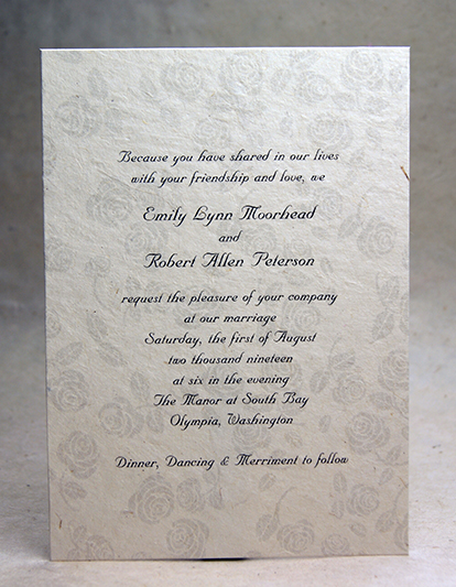5x7 panel invitations with print and art double thick option grey rose stopboris Gallery