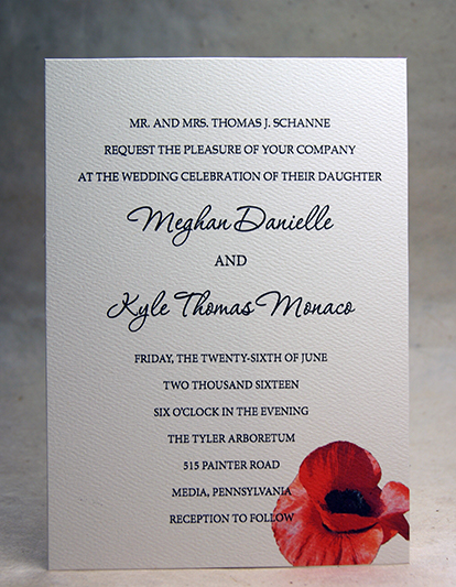 color shown here on felt cardstock - Invitation Card Stock