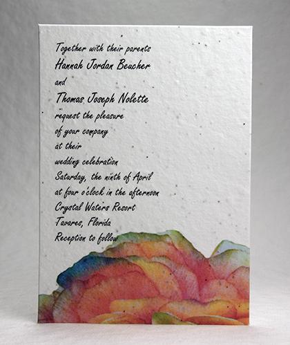 ranunculus seed paper wedding invitations wildflower seeded papers