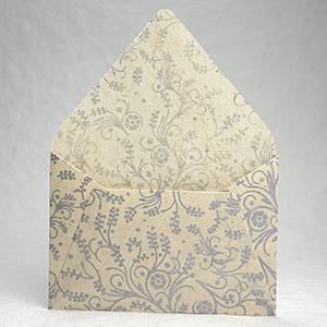 silver filigree envelope