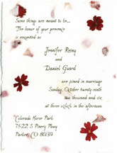 Click to order a flower style invitation like this