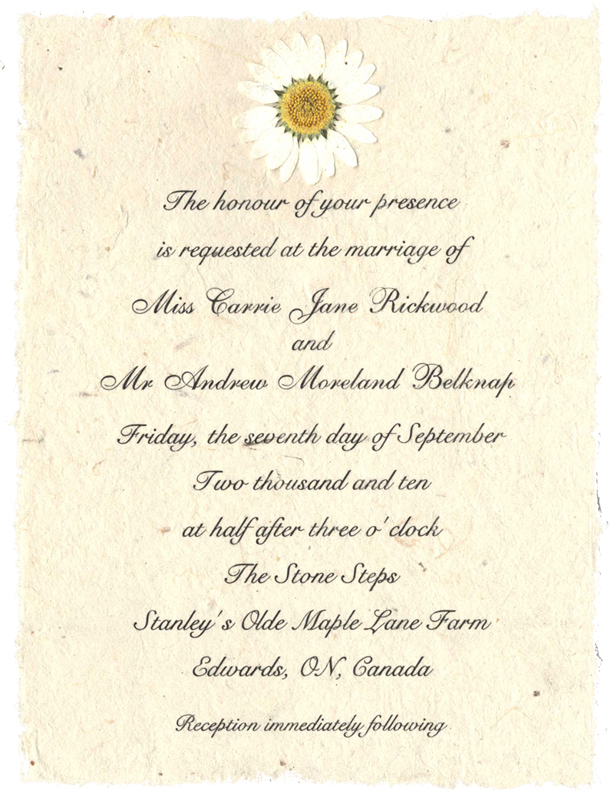 Each Invitation Comes With One Flower Buy Extra Flowers Here