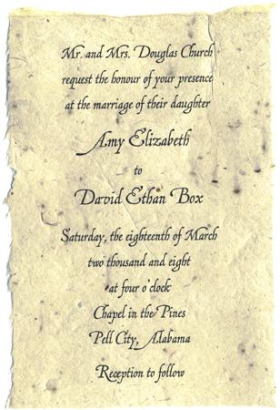 Seed Paper Wedding Invitations 4 5x6 Lotka Panel Invitation