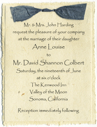 Seed Paper Invitation - Click to order