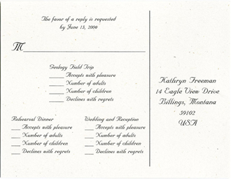 Reply Cards Examples Of Wedding Invitation Wording For