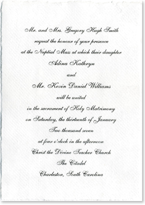 Wedding Invitations from Handmade Paper Weddings Invitations Custom Made