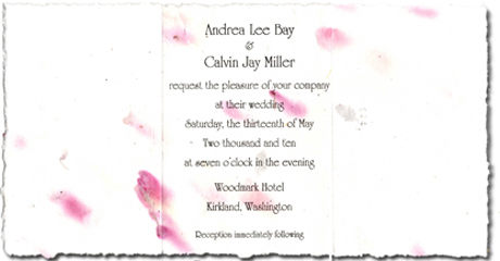 "7"" x 12"" Invitation Package"