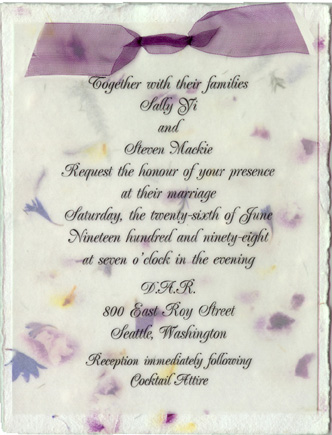 Flower Seed Paper Invitation
