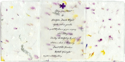 Invitations handmade for weddings seed paper pressed flowers paper square mightylinksfo