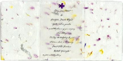 invitations handmade for weddings seed paper pressed flowers