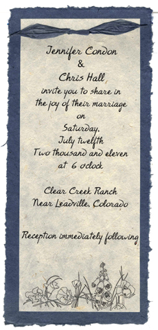 Eco friendly Invitation panel that biodegrades and blooms